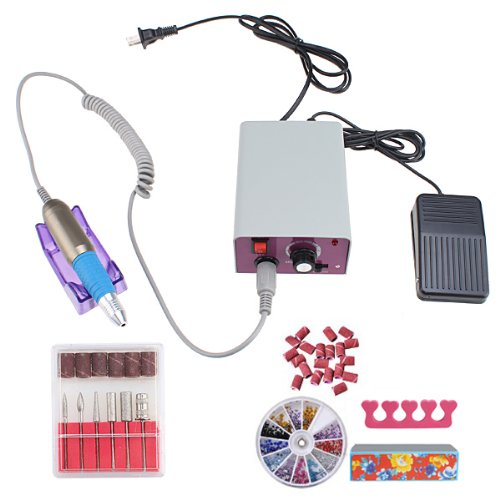 Professional Electric Nail File Drill Machine- Use for Both Pedicure and Manicure