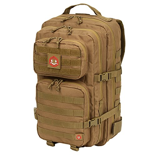 Orca Tactical Salish 40L MOLLE Large 3-Day Army Military Survival Backpack Bug Out Bag Rucksack Assault Pack (Coyote Brown)