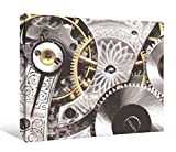 JP London DDCNV2188 Ready to Hang Feature Wall Art 2'' Thick Heavyweight Gallery Wrap Canvas Industrial Gear Sprocket Metal Abstract At 60'' Wide by 40'' High