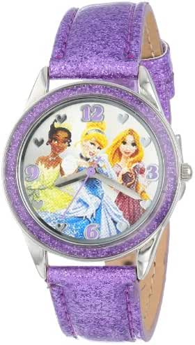 Disney Kids' PN1137 Princess Watch Watch with Glittery Purple Band