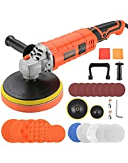 Buffer Polisher,Car Detailing Buffers Polishers,7-Inch 1600W 7 Variable Speed Rotary Polishing/Buffing Machine with Detachable Handle,500-3300RPM,for Car Washing Cleaning Dusting Paint Polishing