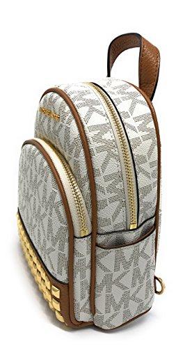 8d80be284bb4 Michael Michael Kors Abbey Extra-Small Signature Studded Backpack Vanilla/ Acorn