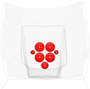 PowerNet Pitch Perfect Targets | Baseball Softball Pitching Trainer | Targets Only | 3 Size Target Set | Incre