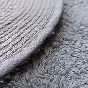 Habudda Cloud Shape Area Rugs for Kids Room Warm Soft 100% Cotton Luxury Plush Handmade Knitted Nursery Decoration Rugs Baby Crawling Rugs Carpet 100CM65CM (Grey)