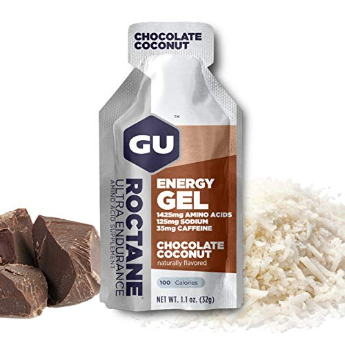 GU Energy Roctane Ultra Endurance Energy Gel, 24-Count, Chocoloate Coconut