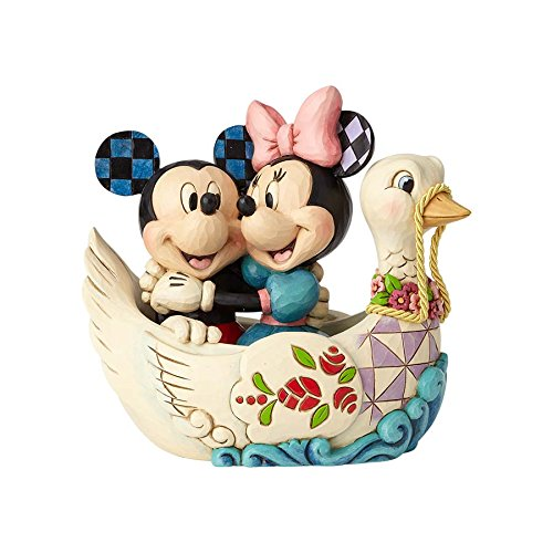 Jim Shore Disney Traditions by Enesco 4059744 Mickey and Minnie in Swan Figurine