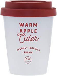 DW Home Warm Apple Cider Hand Poured Single Wick Candle
