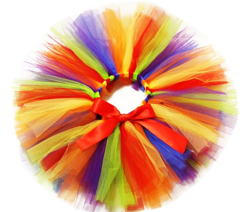 Red, Orange, Lime, Blue & Purple Extra Fluffy Tulle Tutu - 12 months, 2T, 3T, 4T