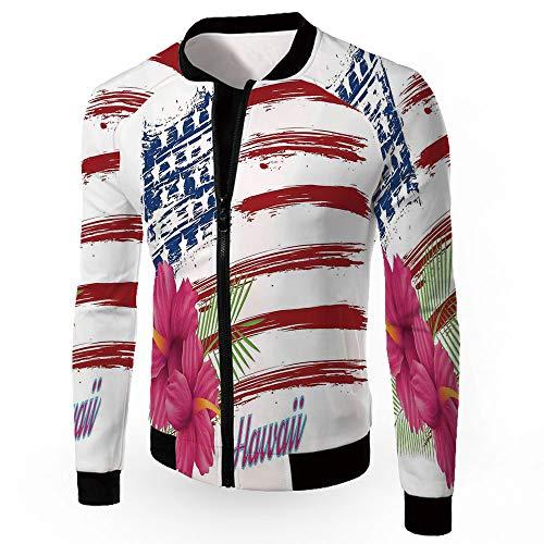 Jackets,Hawaiian,Fashion Lightweight Hoodie Zip-up Letter Windbreaker Jacket,AME