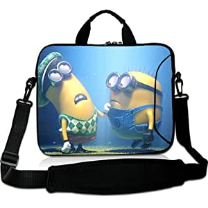 Brinchs Handmadecraft Cute Cartoon 11 11.6 Inch Laptop Shoulder Bag with Mark And Tim Despicable Me Waterproof Canvas Fabric Laptop / Notebook / MacBook / Ultrabook Computers(Twin Sides)