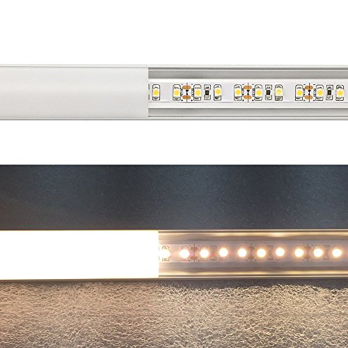 LightingWill 20-Pack V-Shape LED Aluminum Channel System 6.6ft/2M Anodized Silver Corner Mount Profile for <12mm width SMD3528 5050 LED Strips with Curved Cover, End Caps and Mounting Clips V02S2M20 by LightingWill (Image #4)