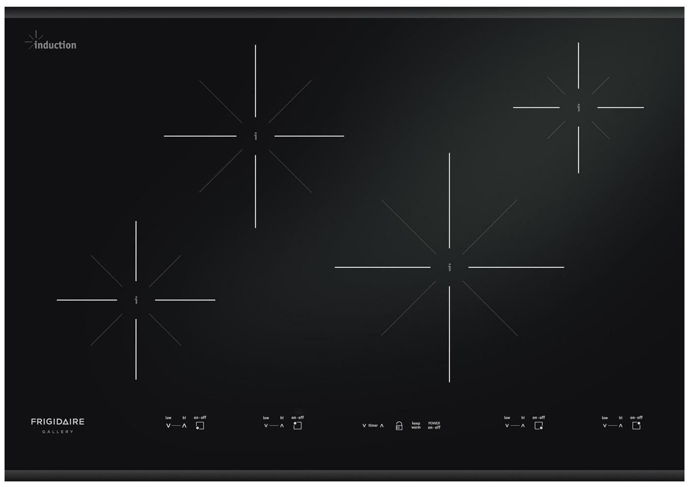 "Frigidaire FGIC3067MB Gallery 30"" Black Electric Induction Cooktop"