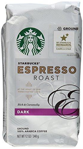 UPC 762111206039, Starbucks, Dark Roast, Espresso Roast Ground Coffee, 12oz Bag (Pack of 2)