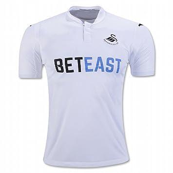 2016 2017 Swansea City AFC camiseta de Jack corcho Leon Britton casa fútbol Jersey de flores