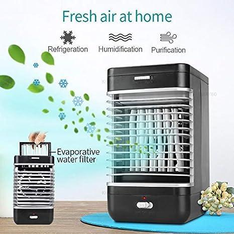 Imagen deJunio1 Air Cooler Mini Fans Ventilador de enfriamiento de Aire Acondicionador portátil de Verano Ventiladores