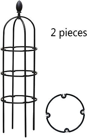 YOGANHJAT DIY Plantas trepadoras plástico Soporte Celosía de plástico para jardín Soporte Planta Vides de celosía pérgola para Pepino, Enredaderas de Granos Negro,20x90cm: Amazon.es: Hogar