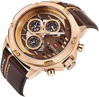 3ATM Waterproof NAVIFORCE Fashion Men Quartz Luminous Casual Male Wristwatch