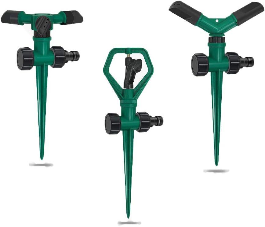 MYHXQ Lawn Sprinkler 360° Rotating Garden Sprinkler Adjustable Watering Sprinklers for Yard,Lawn,Kids,-3 Pack