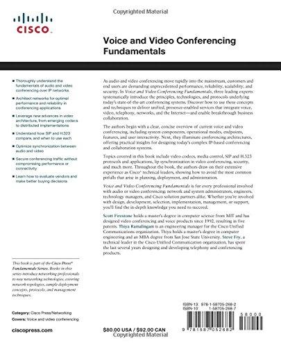 voice and video conferencing fundamentals firestone scott ramalingam thiya fry steve