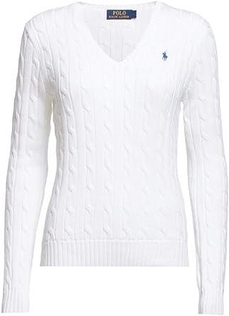 Ralph Lauren Polo, cuello en V, algodón, color blanco classic ...