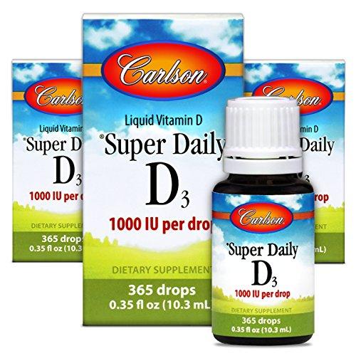 Carlson Super Daily D3 1,000 IU , Heart & Immune Health, Tee