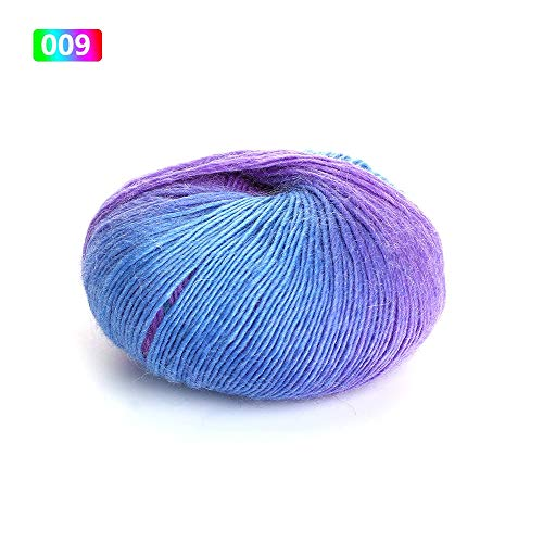 Wool Yarn - 50g Roll Knitted Chunky Sock Shawl Woolen Rainbow Colorful Hand Knitting Scores Wool Yarn Needles - Bowl Cream Bulky Kaleidoscope Scraps Baby Giant Hand Roving Brown Gradient ()