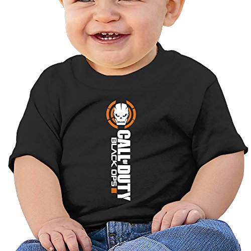 [DVPHQ Baby's Call Of Duty Black Ops Logo Tees Little Unisex Black Size 18 Months (6-24 Months)] (Assassins Creed Unity Costume Customization)