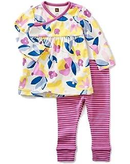 85a3ae221cdb Amazon.com  Tea Collection Girls  Emiana Baby Pajamas  Clothing