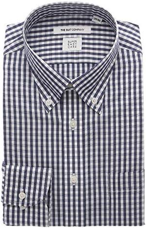 (ザ・スーツカンパニー) SUPER EASY CARE/ボタンダウンカラードレスシャツ ギンガムチェック〔EC・FIT〕 ネイビー×ホワイト