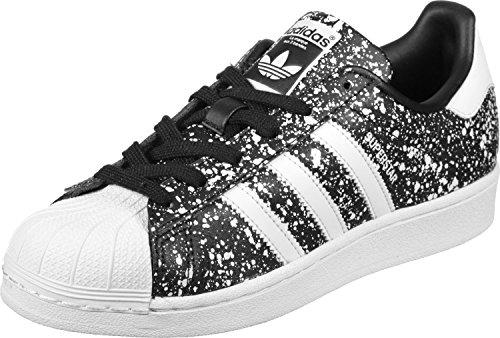 adidas Superstar W, Zapatillas de Deporte para Mujer Negro (Negbas/Ftwbla/Negbas)