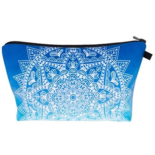 Oksale Portable Makeup Cosmetic Bag Brush Pen Pencil Case Organizer Pouch Box for Women (Blue)