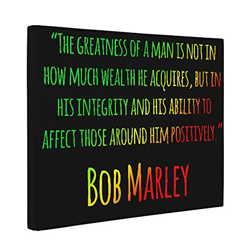 Bob Marley Motivational Quote CANVAS Wall Art Home Décor by Paper Blast