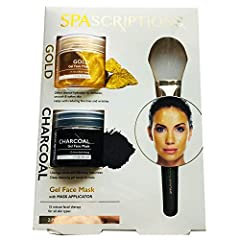 Gold Gel Face Mask: is a luxurious anti-aging skin treatment. Infused with Gold extract, it is known to reduce the appearance of fine lines & wrinkles by firming and toning the skin.Charcoal Gel Face Mask: is a deep cleansing gel based fo...