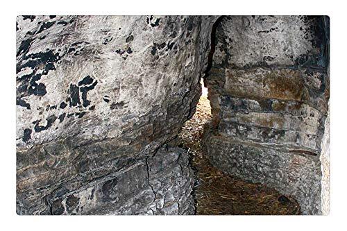 Tree26 Indoor Floor Rug/Mat (23.6 x 15.7 Inch) - Cave Limestone Cave Exploration Rock Wall Cliff