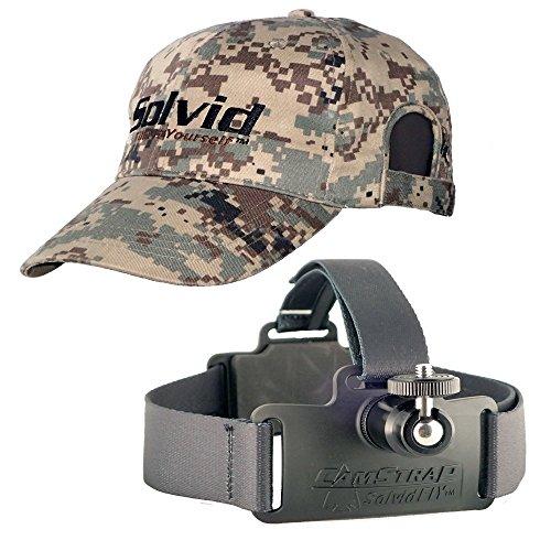 Solvid Premium Universal Head Cam Mount for Any Camera (Digital Black Combo)