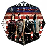Hollywood Undead Theme Umbrella Custom American Flag As Background Printed Umbrellas
