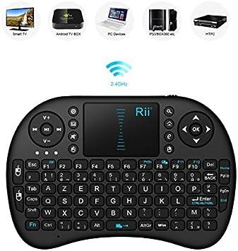 Flexymove – Mini Teclado inalámbrico Luminoso con Touchpad y pavé direccional Compatible se Smart TV Box
