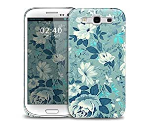 floral blue vintage pattern Samsung Galaxy S3 GS3 protective phone case