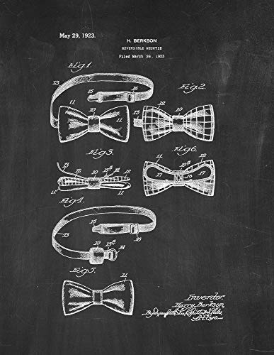 Reversible Necktie Patent Print Chalkboard (13