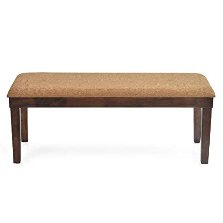@home by Nilkamal Olenna Two Seater Dining Bench (Walnut)
