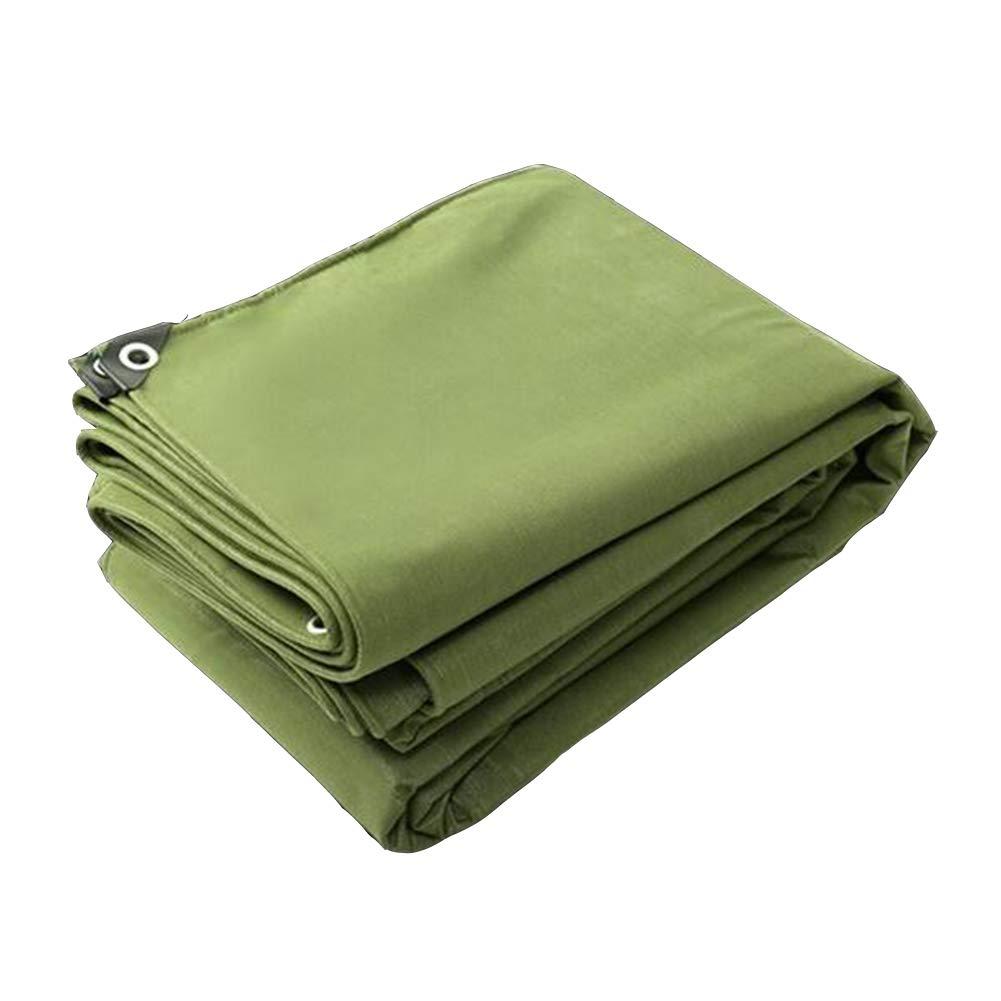 DALL ターポリン タープ 防水 ヘビーデューティー カバー 日焼け止め布 車 キャンバス サンシェード (色 : Green, サイズ さいず : 3*5m) 3*5m Green B07KTL9X52
