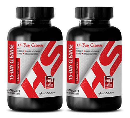 weight loss supplements - 15-Day Cleanse 1180MG - ADVANCED FORMULA - cascara sagrada capsules - 2 Bottles (60 Capsules) by Healthy Supplements LLC