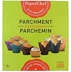 PaperChef Parchment Collection Lotus, Tulips, Large Culinary Parchment Baking Cups 288 Pieces