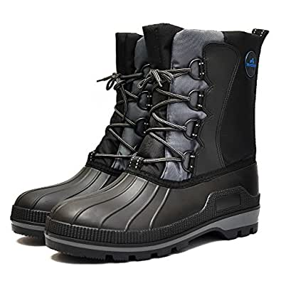 Amazon.com | Men's Waterproof Warm Snow Boots Winter
