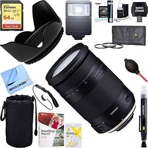 Tamron 18-400mm f/3.5-6.3 Di II VC HLD All-in-One Zoom Lens for Nikon Mount + 64GB Ultimate Filter & Flash Photography Bundle (AFB028N-700) (Best Lens For Wildlife Photography Nikon)