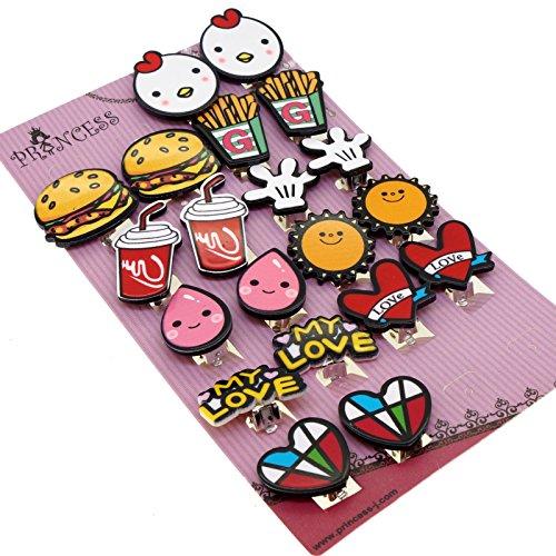 Contemporary Princess Earrings (Cute Cartoon Clip On Earrings, Pack of 10 Pairs, Gift Set For Kids Teen Teenage Girls Women)