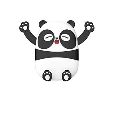 Panda Phone Holder Car Phone Mount, Cartoon Air Vent Vehicle Mount Cradle Holder Compatible with 4.0-6.5 inch Cellphones-Black [5Bkhe1001959]