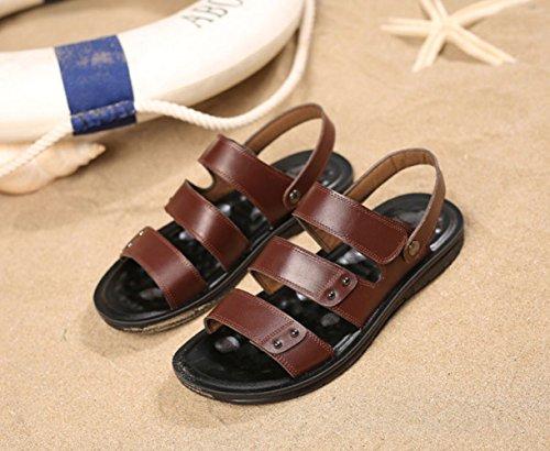 Brown De Zapatos Pantuflas Para Playa Hombres Verano Sandalias Antideslizantes Casual w4CqIz