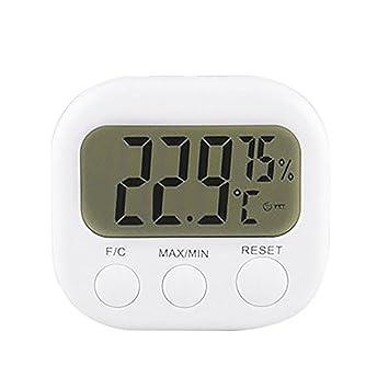 Termómetro digital LCD para interiores e interiores, higrómetro de cocina, medidor de temperatura y humedad: Amazon.es: Hogar