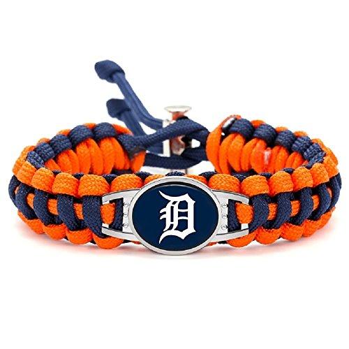 - Swamp Fox Premium Style Detroit Tigers Baseball Team Adjustable Paracord Survival Bracelet